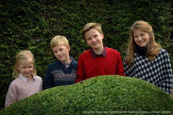 New Official photos of Elisabeth, Gabriel, Emmanuel & Eleanor