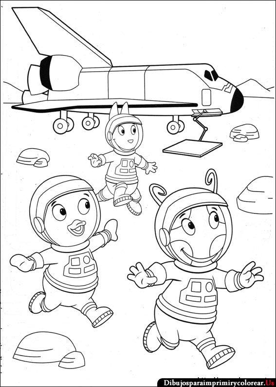 Dibujos de Backyardigans para Imprimir y Colorear | Astronautes ...