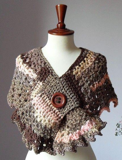Receitas de Trico e Croche: Linda Pelerine em crochê para se ...