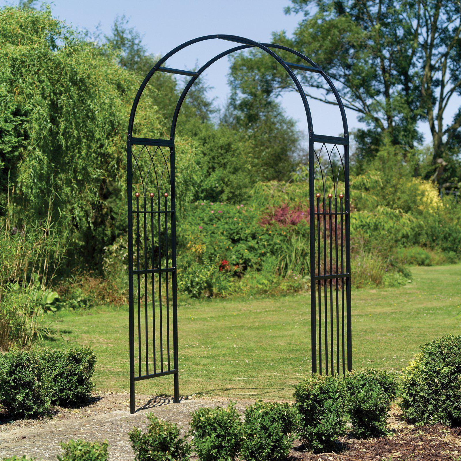 Gardman Westminster 6 5 Ft Metal Arch Arbor Garden Archway
