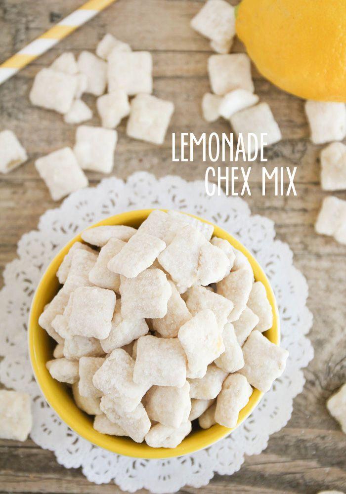 Homemade Lemonade Chex Mix Recipe Chex Mix Chex Mix Recipes