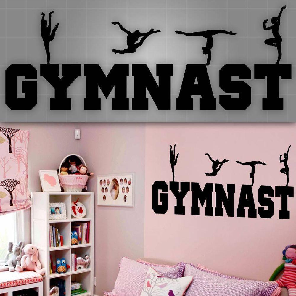Gymnast Wall Decal, Girls Gymnast Wall Sticker, Girls Room ...