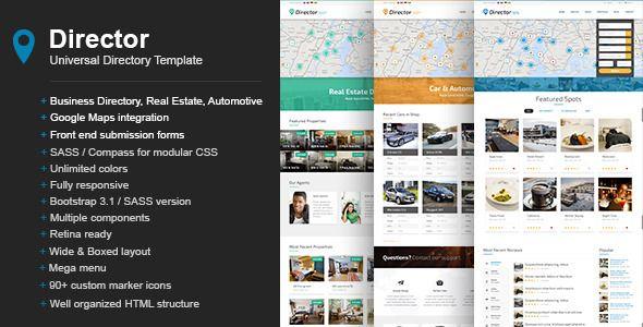 director universal directory template website templates