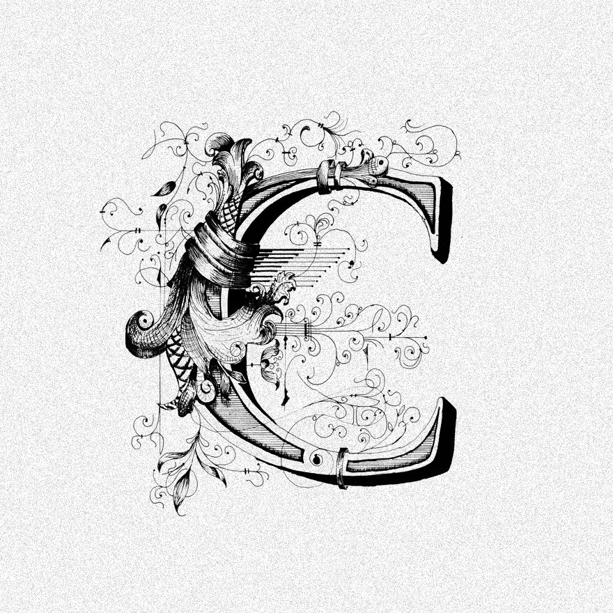 C For Typography Pinterest