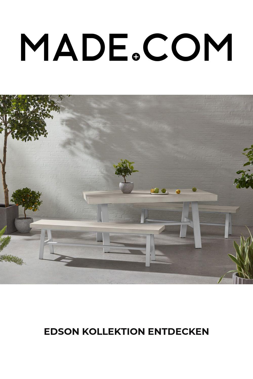 Made Gartentisch Weiss In 2020 Dining Table White Garden Bench