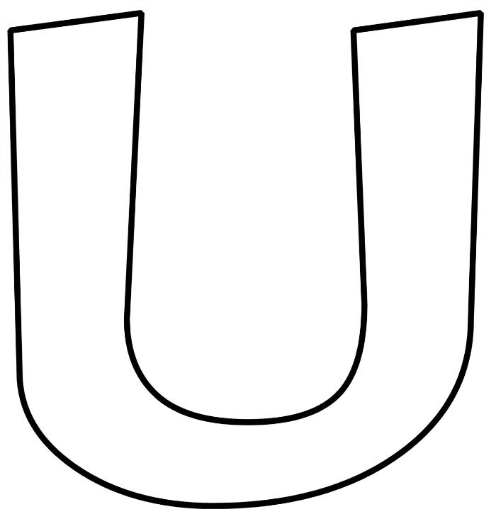 U in bubble letters
