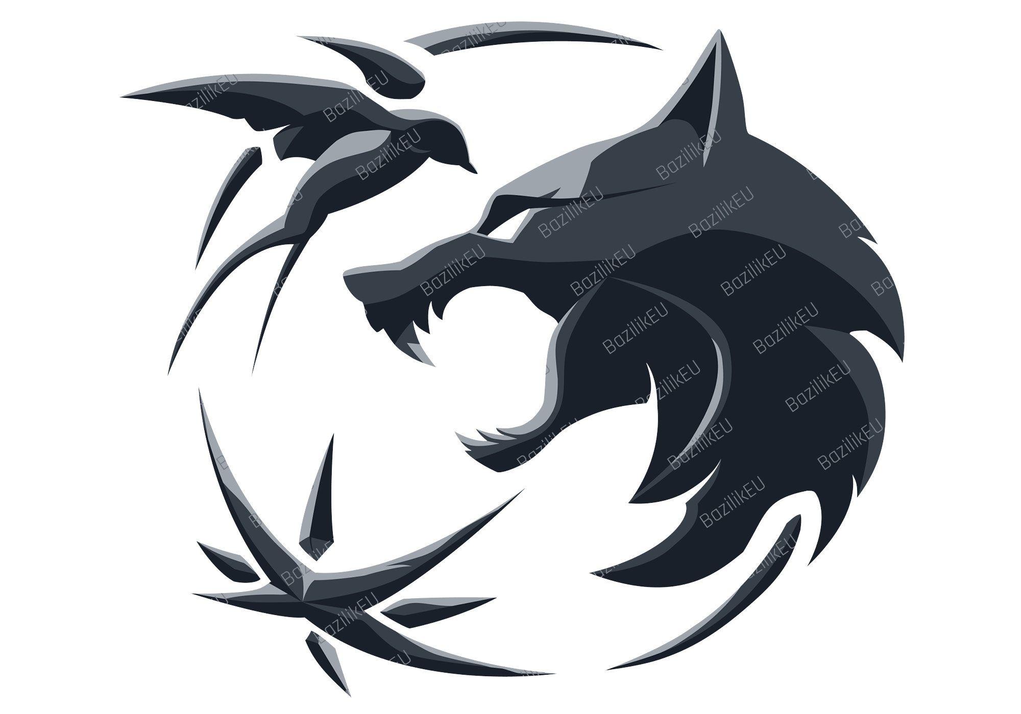 Wolf Witcher Medallion Svg Digital Download Instant The Witcher Svg Cricut Witcher 3 Art In 2021 Witcher Medallion Witcher Tattoo The Witcher