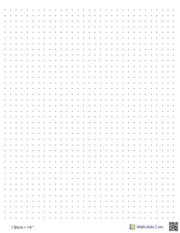 Dot Graph Paper--a useful practice tool for dot-grid based - blank grid chart