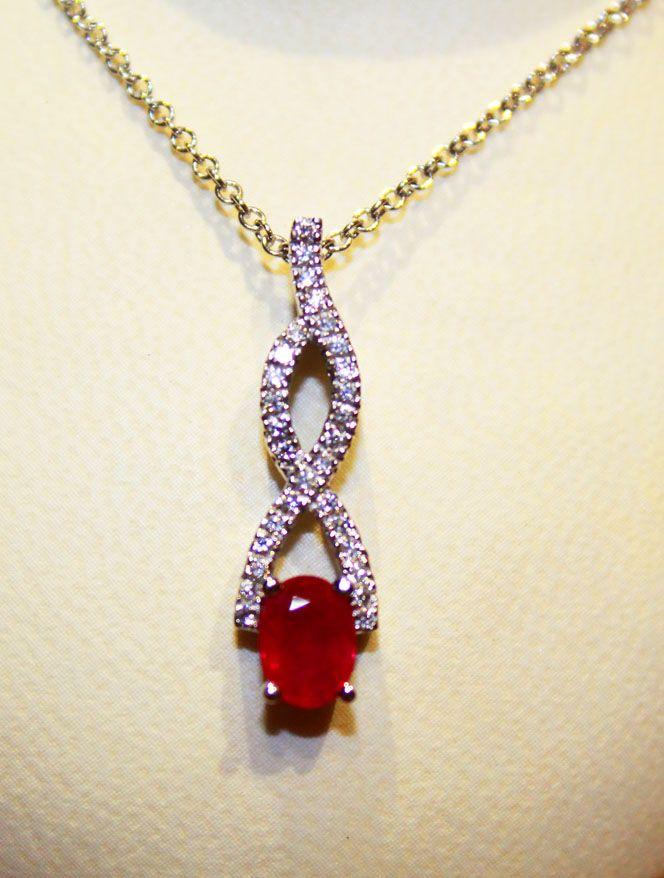12d9e9ab726e1f Ruby & Diamond Eternity Necklace 50% OFF PRICE = $1,797.50 | 50% OFF ...
