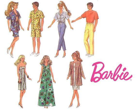 Simplicity 7928 Fashion Doll Clothes Sewing Pattern by CrabandCrow ...