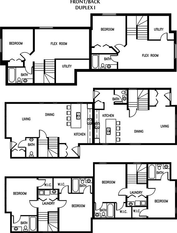 Edmonton duplexes or semi detached homes blueprints multi family edmonton duplexes or semi detached homes blueprints malvernweather Gallery