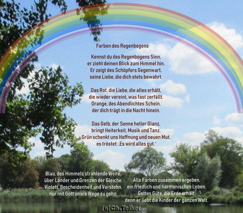 Regenbogen gedichte
