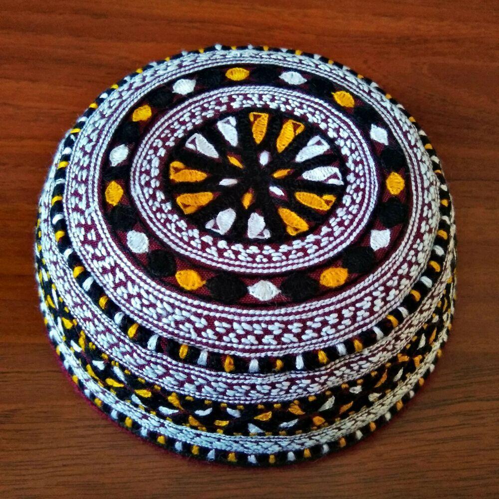 Tahya Turkmen National Headdress Turkmenistan Tubeteika Exclusive Handmade