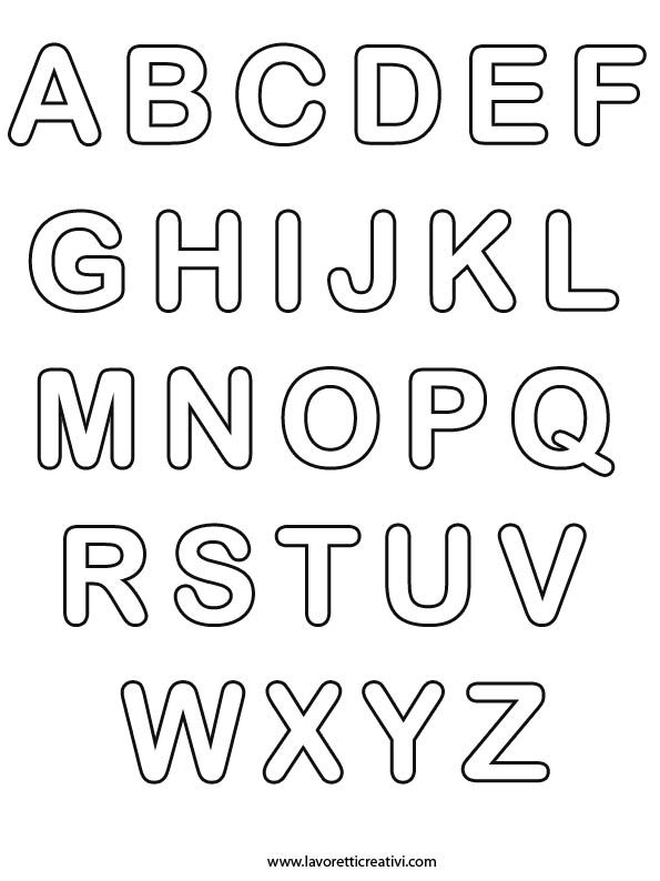 alphabet letters coloring pages | Alphabet & Numbers ...