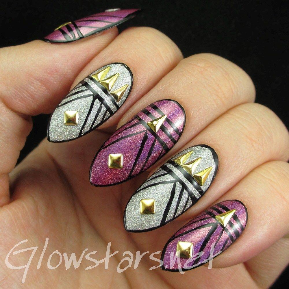 Gatsby / Art deco nail art... Featuring Born Pretty Store isosceles ...