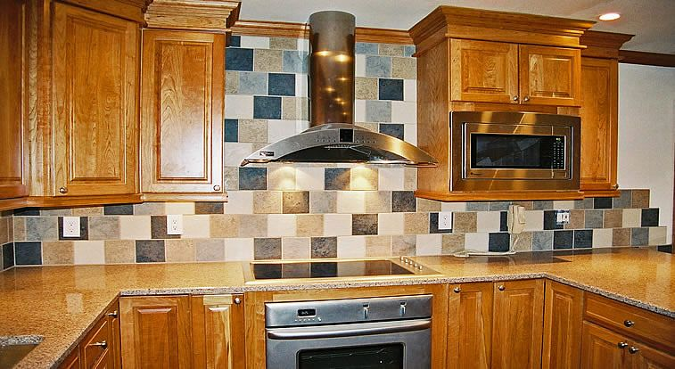 Pictures Of Kitchen Backsplashes Kitchen Backsplash With Random