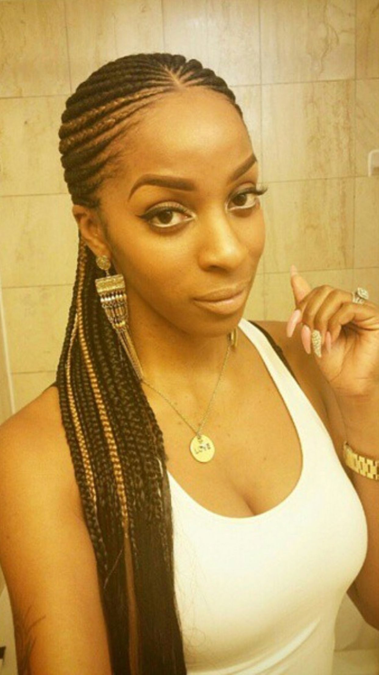 Highlight cornrows natural hair style braids pinterest black hair highlight cornrows pmusecretfo Images