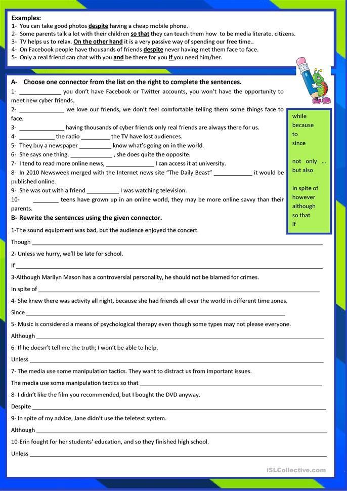 Conjunctions Conjunctions Worksheet Conjunctions Writing Words Conjunctions worksheets 5th grade