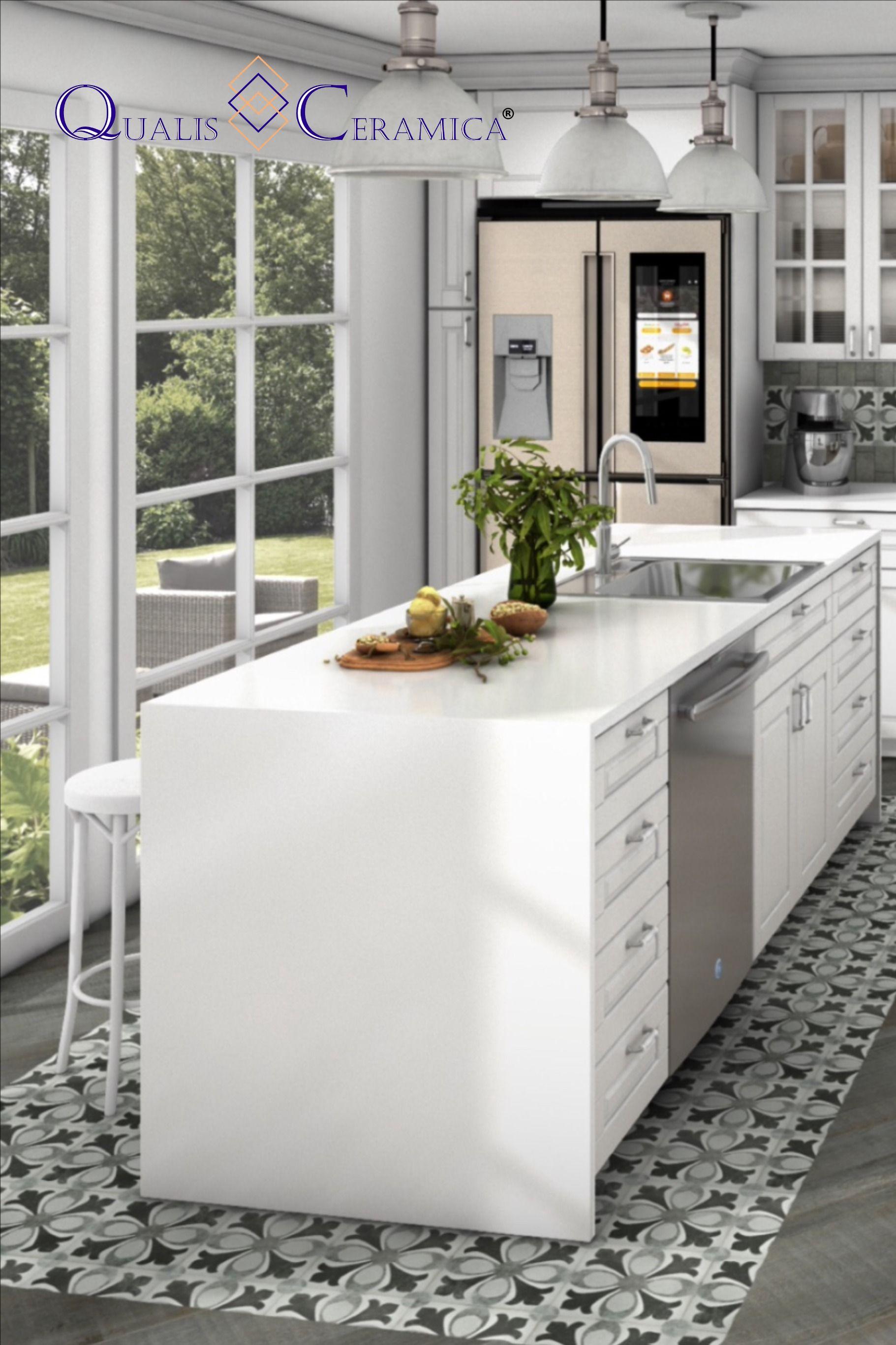 9x9 Room Design: Qualis Ceramica Tapestry Alexandria 9x9 (Porcelain Cement