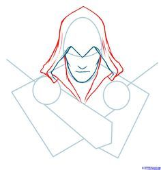 How To Draw Ezio Assassins Creed Ezio Step 3 Assassins Creed