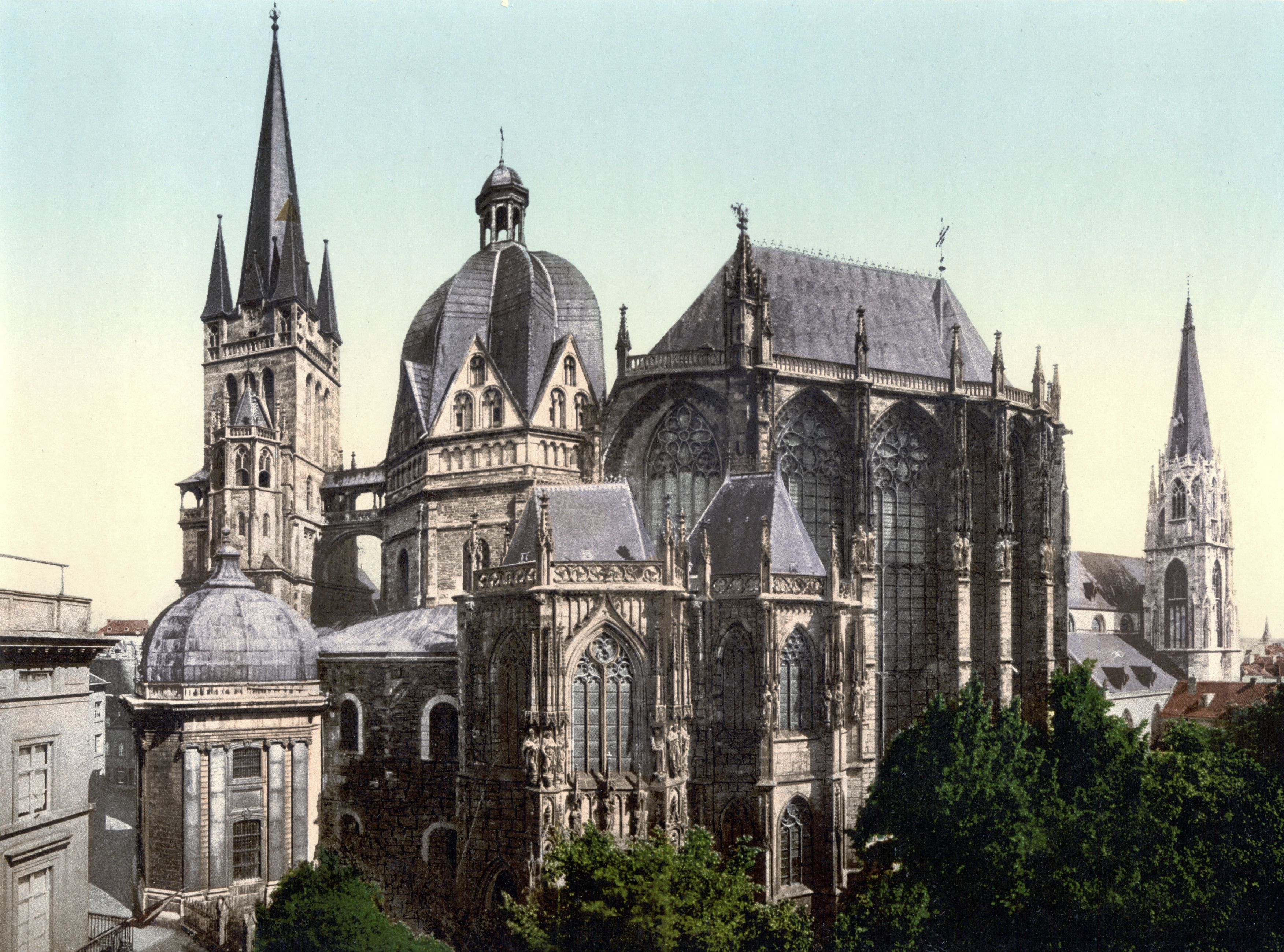 aachen cathedral by unknown architect at aachen germany 792 to architecture in the great buildings online aix la chapelle cathedral