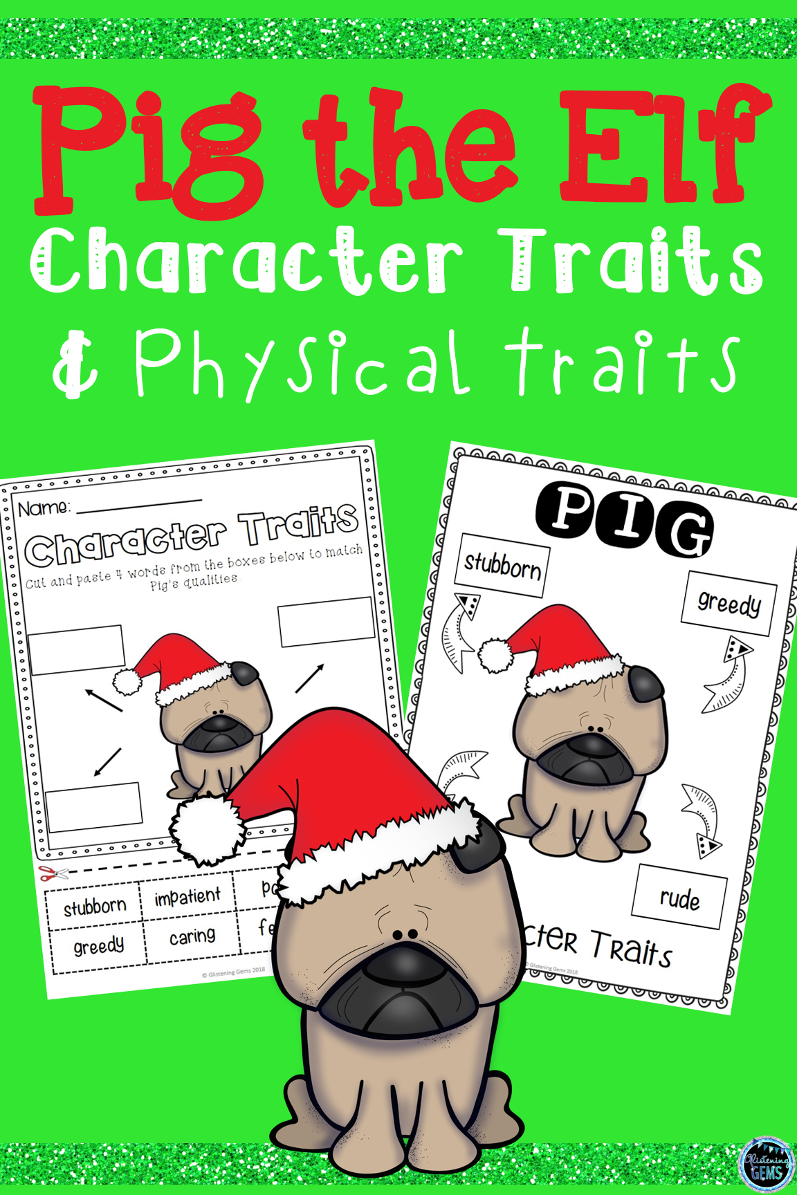 Pig The Elf Character Traits Activities Bundle