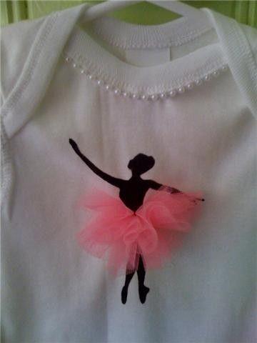 Gran idea para personalizar una playera de bailarina | ballet party ...