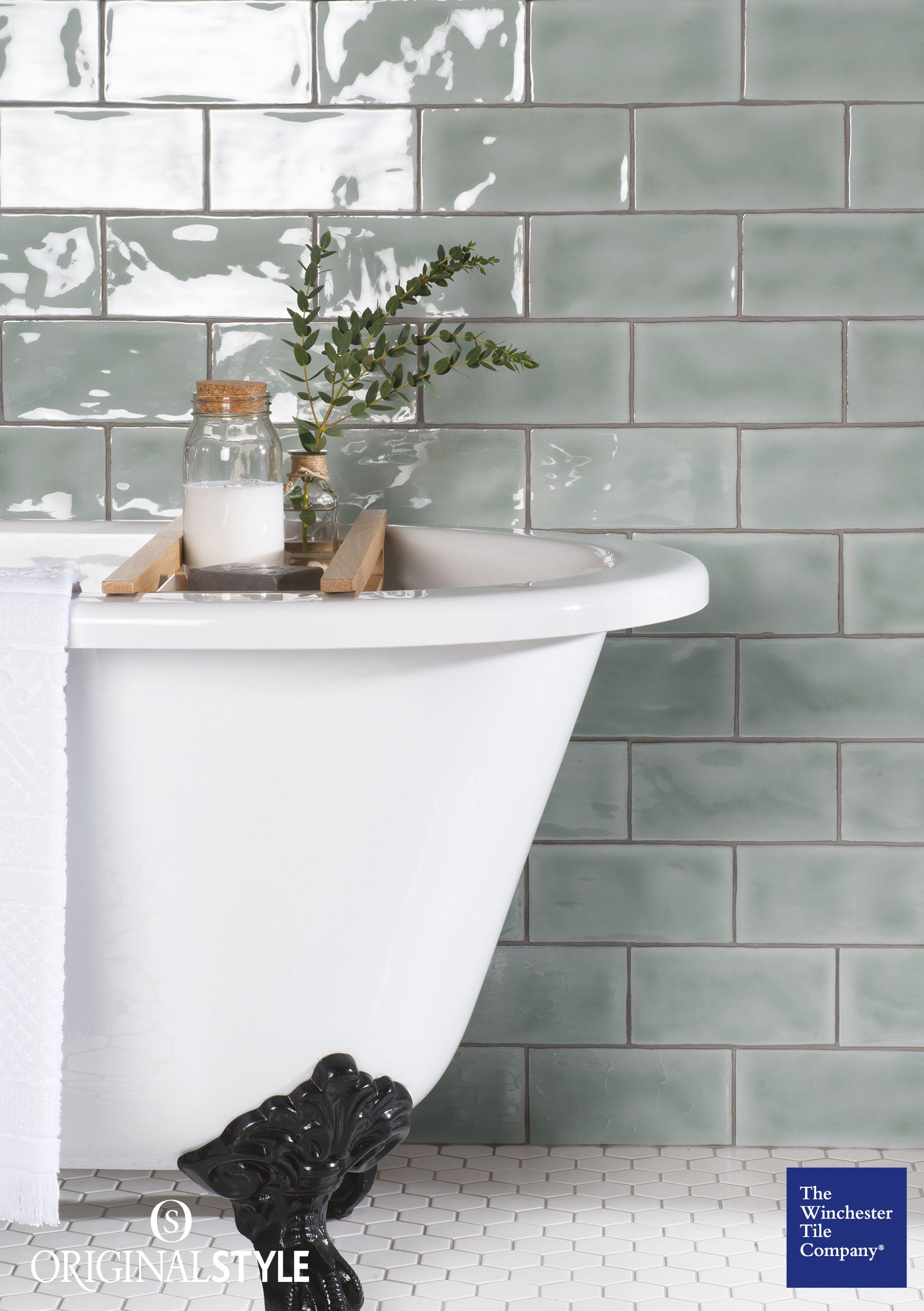 Mint brick ceramic tile brick tiles modern country and bricks the winchester tile company residence cosmopolitan mint brick tiles are slightly chunkier than the half tiles dailygadgetfo Images