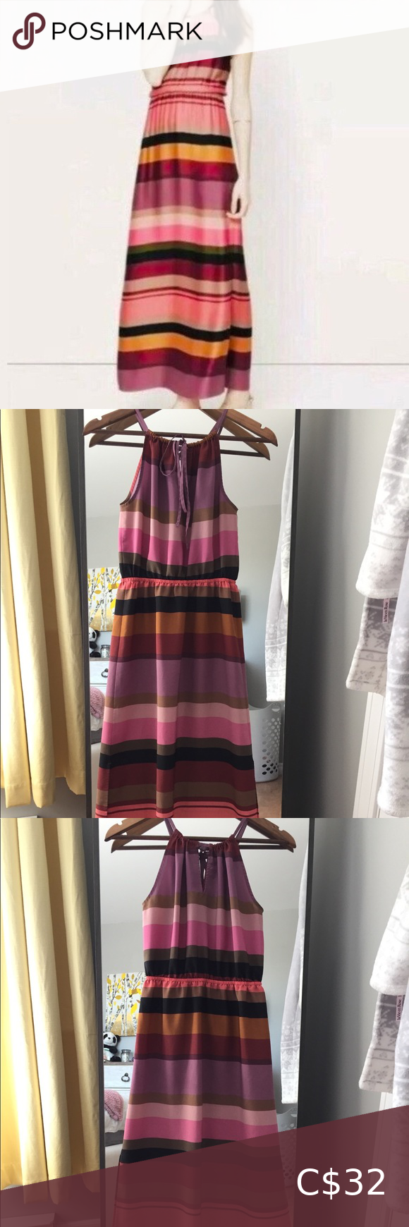 Ann Taylor Loft Striped Maxi Dress