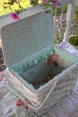 Shabby Chic Picnic Basket Promenade In The Park Pinterest - Manualidades-shabby-chic