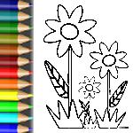 Ausmalbild Blumen Krauter Der Blumenwiese Babyduda Malbuch Blumen Wiese Blumenwiese Ausmalen