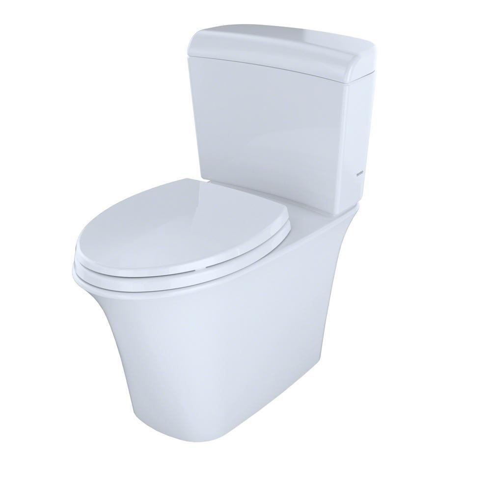 TOTO Maris 2-Piece 0.9/1.28 GPF Dual Flush Elongated Toilet in ...