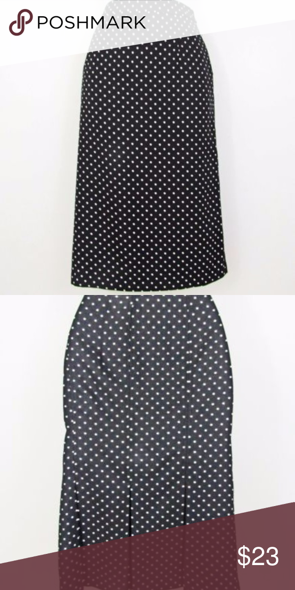 7df8fc6f515 Who What Wear Pencil Skirt Black White Dots 24 Brand new