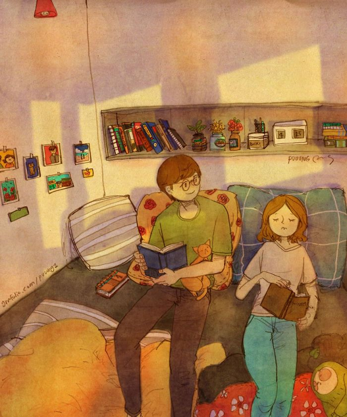 Love Is In The Small Things: New Illustrations By Korean Artist Puuung (92 Pics)