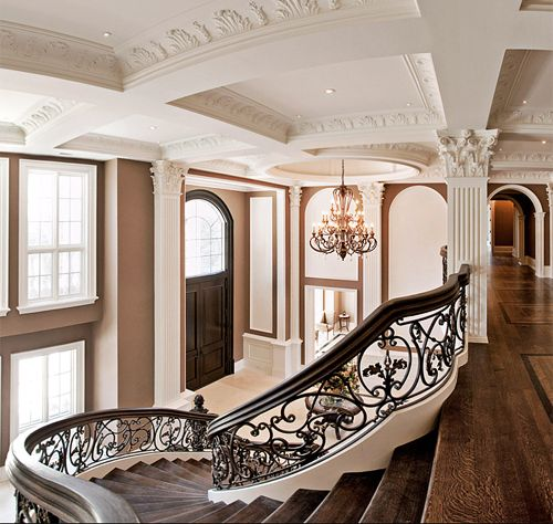 Grand staircase design foyer also best dream home images in future house beautiful rh pinterest