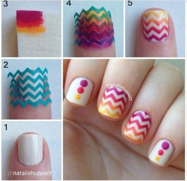 Leuke Nagellak Ideeen Om Zelf Ook Te Doen Fancy Nails Cute Nails Chevron Nails