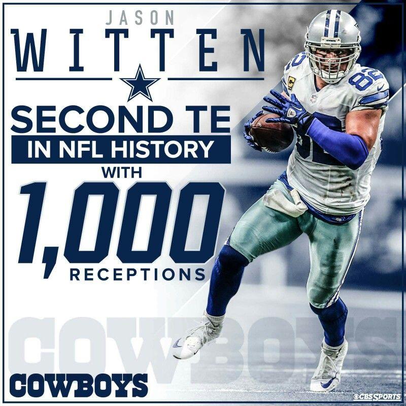 Jason Witten 1,000 career reception | Dallas cowboys ...