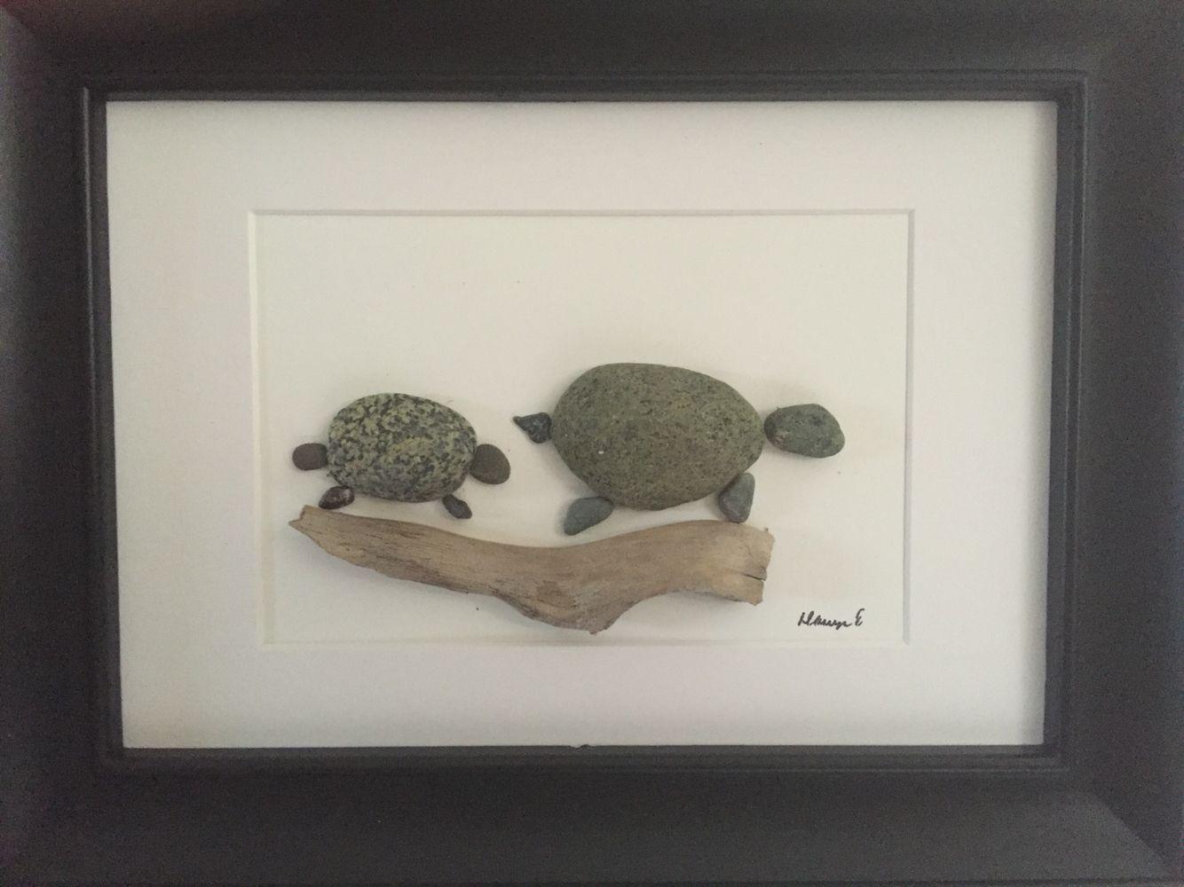 No stone unturned pebble art by dawn turtles stone art for Pebble art ideas