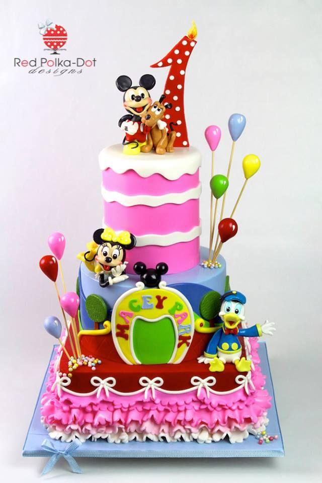 Torten, Micky Maus Wunderhaus Kuchen, Festtagstorten, Tolle Kuchen, Schöne  Kuchen, Hübsche Kuchen, Geburtstagsfeier, Baby Party Kuchen, Kuchen Für ...