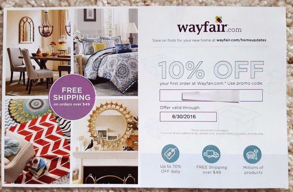 Wayfair coupon code 10 off entire order