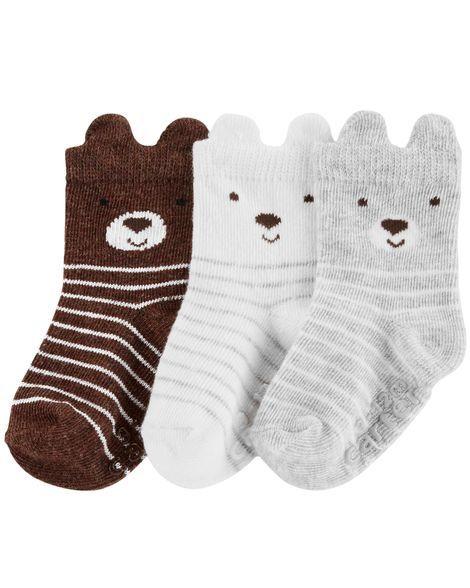 new arrival e7098 dfc68 3-Pack Bear Socks. Baby Boy ...
