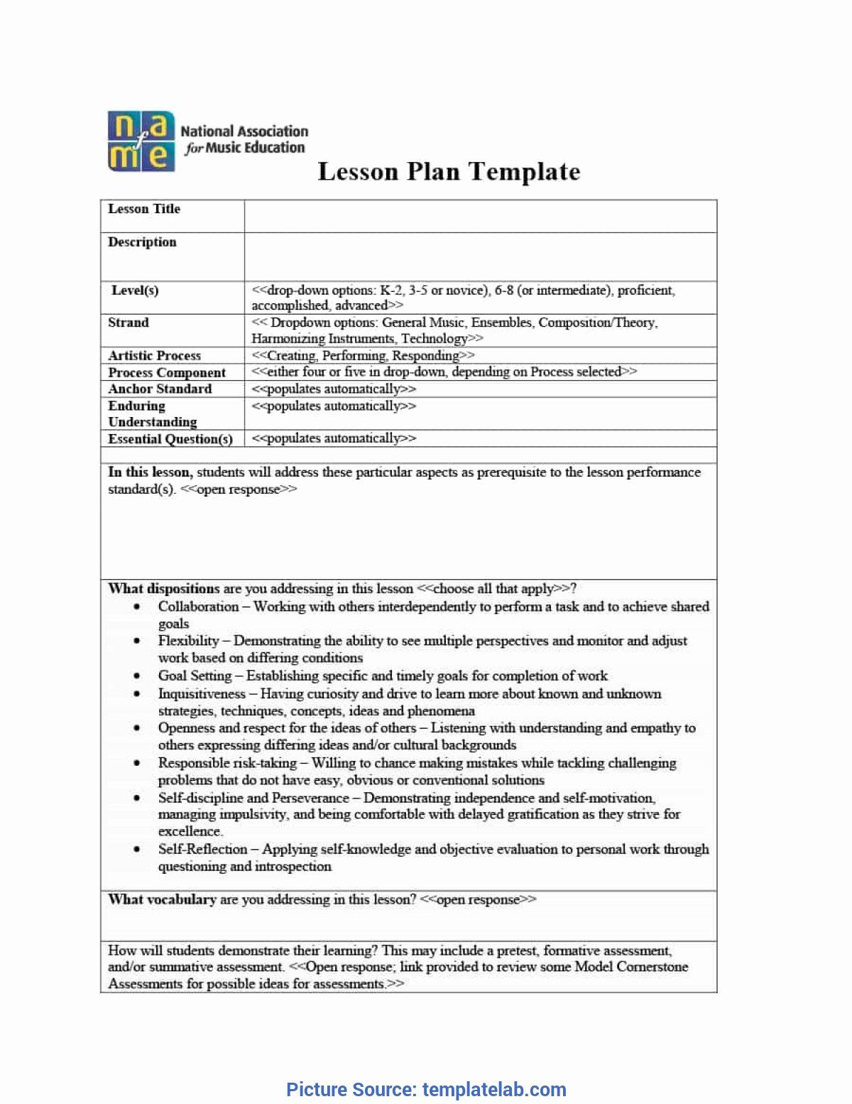 Unit Lesson Plans Template New Best Lesson Plan Template K