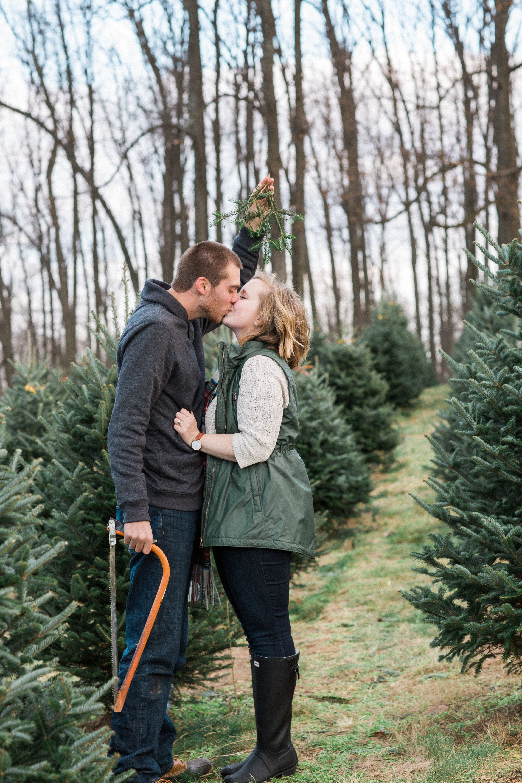 joe & kait at the christmas tree farm.   Christmas tree ...