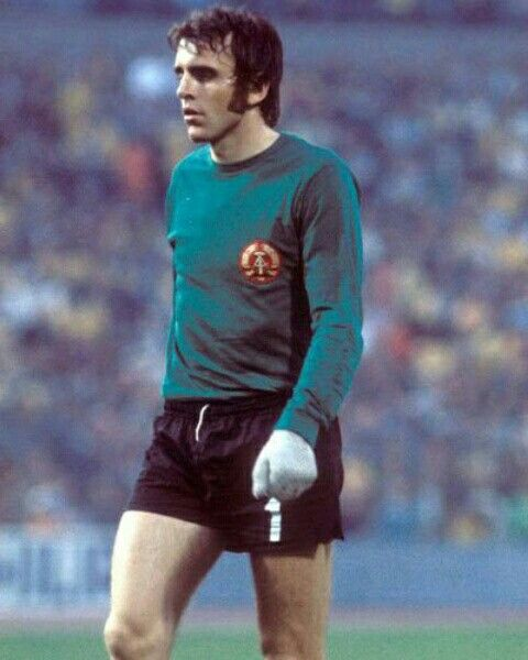East Germany goalkeeper Jurgen Croy at the 1974 World Cup Finals.