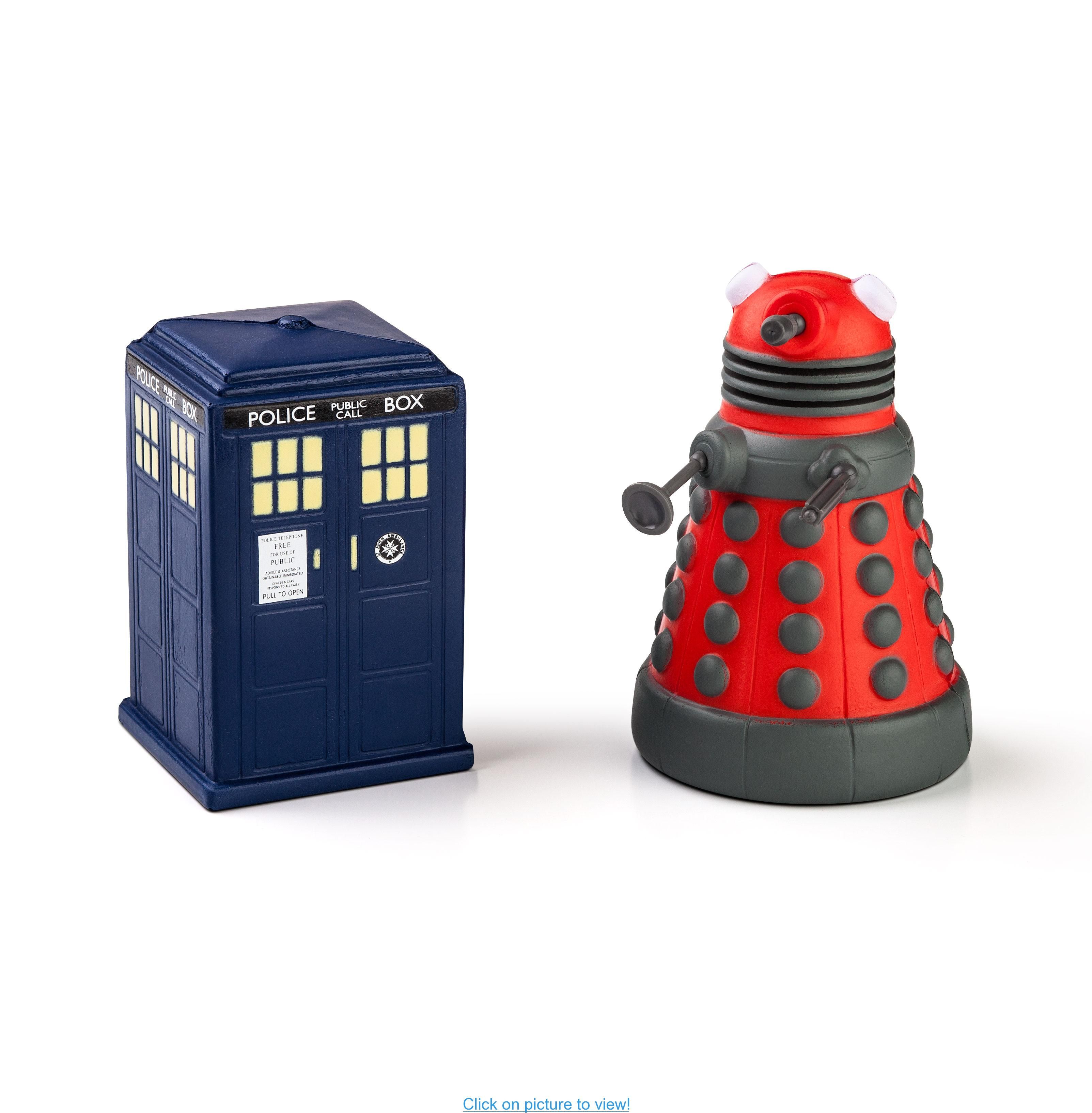 Doctor Who Tardis And Dalek Stress Toys Home Office Geeky Supplies