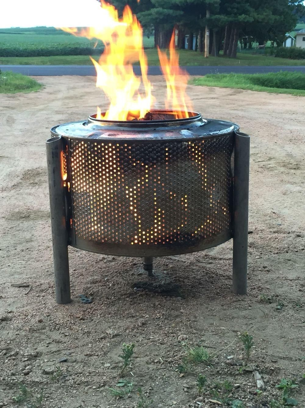 Use the inside of a washer machine as a fire pit You can make these for dirt cheap and sell them for 20  lifehacks
