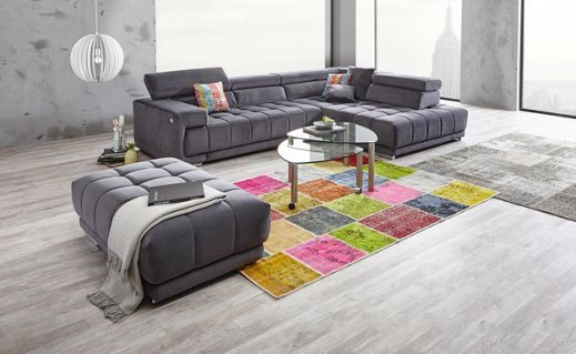 Wohnlandschaft In Textil Anthrazit Sofas Couches Pinterest