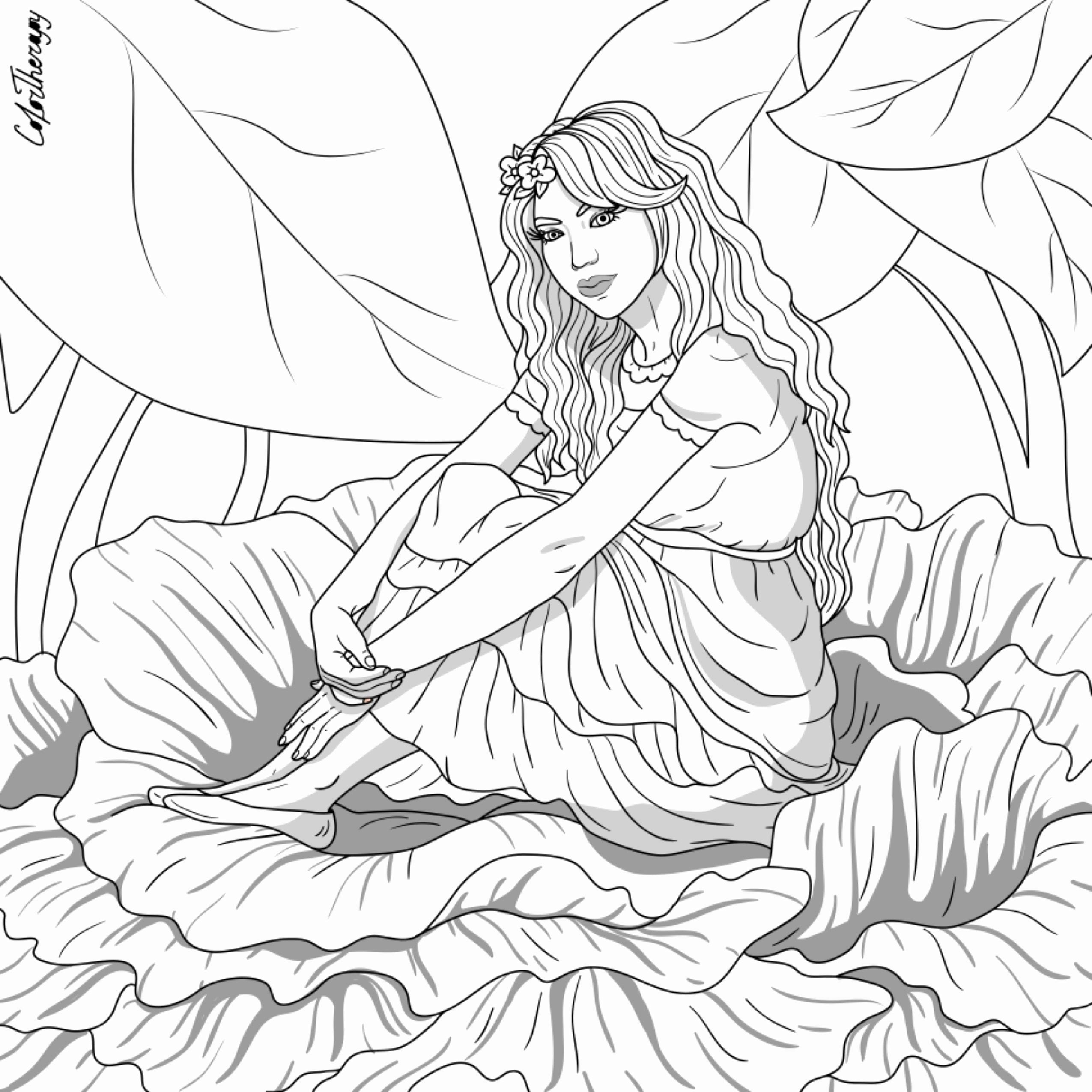 Nature Design Coloring Book With Images