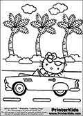 Printable Colouring Sheet With Hello Kitty Hello Kitty Is Sitting In A Classic Card With A Pai Hello Kitty Coloring Hello Kitty Colouring Pages Kitty Coloring