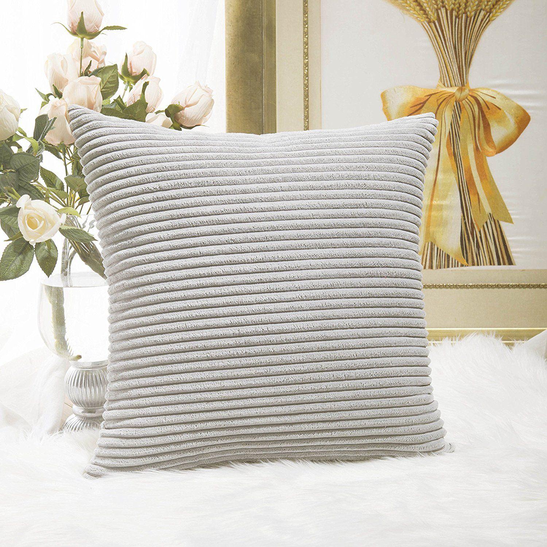 HOME BRILLIANT Striped Soft Velvet Corduroy